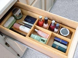 Axis 139 Natural Wood Expandable Cosmetic Drawer Organizer