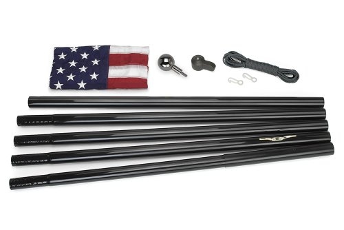 Valley Forge Flag All-American Series 3-Feet By 5-Feet Nylon Us Flag Kit With 18-Foot Black Steel In-Ground Pole And Hardware (Discontinued By Manufacturer)