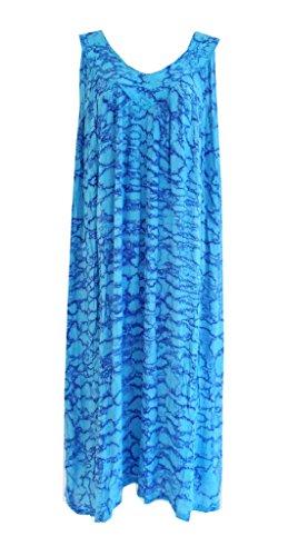 Advance Apparels Cotton Animal Print Maxi Dress Turq (Free Advance compare prices)