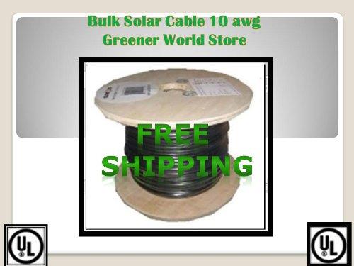 25 Feet Bulk Solar Cable 12 Awg