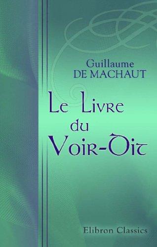 Le Livre Du Voir-Dit (French Edition) front-609258