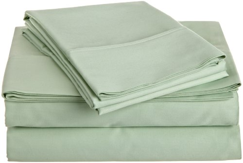 Hn International Group Castle Hill 500 Thread Count 100-Percent Egyptian Cotton Solid Sheet Set, King Size Misty Jade