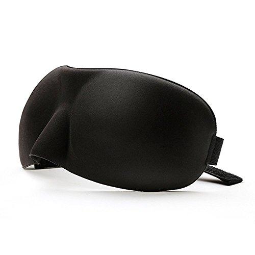 Visenta(ビセンタ) 睡眠用 アイマスク シルク 軽量 心地よい装着感 ぴったりフィット 男女兼用 フリーサイズ ブラック