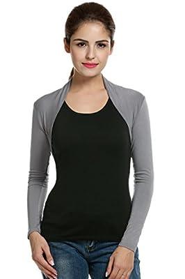 Meaneor Women's Long Sleeve Bolero Shrug