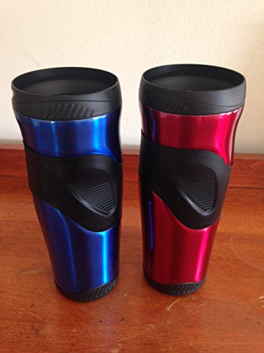 Thermos 16Oz Raya Travel Mug Combo Pack, (Red And Blue) front-593893