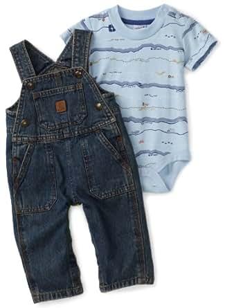 Amazon Carhartt Baby Boys Washed Bib Overall Set