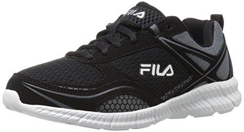 Fila Women's Speedway Running Shoe, Black/Black/Dark Shadow, 8 M US