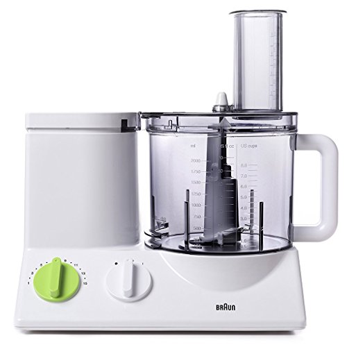 Braun FP3020 12 Cup Food Processor Ultra Quiet Powerful motor, includes 7 Attachment Blades + Chopper and Citrus Juicer , Made in Europe with German Engineering (Made In Usa Food Processor compare prices)
