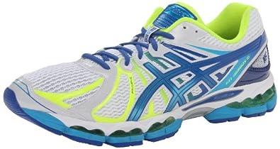 ASICS Men's Gel-Nimbus 15 NYC Running Shoe,White/Island Blue/Flash Yellow,10.5 M US