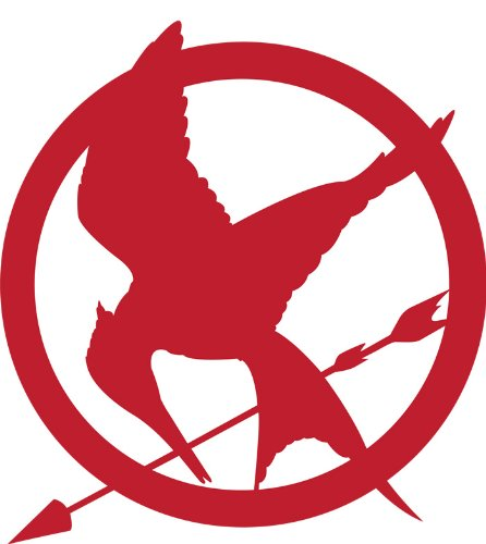 Hunger Games Mocking Jay Sticker Decal Red