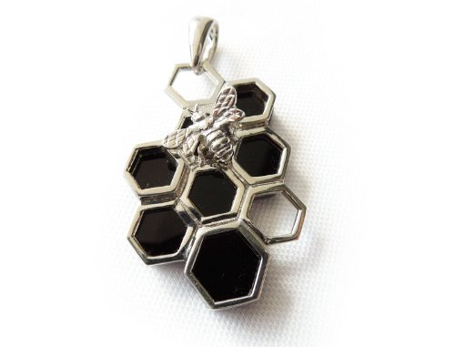 Black Onyx Gemstone Pendant for Necklace Sterling Silver Jewelry - Black Friday Sales 2012 - Cyber Monday Gift