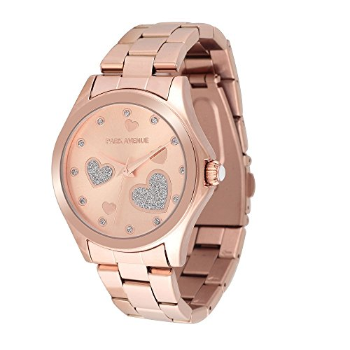 park-avenue-montre-femme-modele-two-hearts-dore-rose