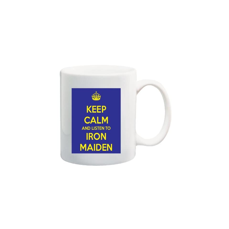 11 Calm Oz Iron Maiden And To Coffee Blue Mug Keep Yellow Listen SpLzjUqMVG