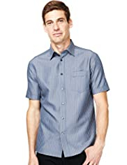 Soft Touch Short Sleeve Checked Shirt