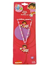 Nickelodeon Dora the Explorer Charm Bracelet and Necklace Set