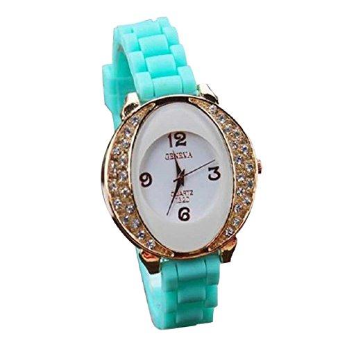 Zps(Tm) New Fashion Lady Classic Style Silicone Dial Quartz Watch (Green)