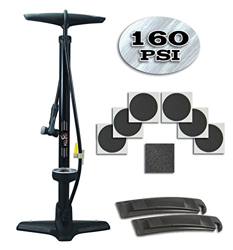 Floor Bike Pump - The Finest Steel Quality Bike/Tire Presta Pump With Specialized Air Flow System/Switch To Change Valve Types/Extra Wide Base & Extra Wide Gauge For Convenience & Stability. (Bicycle Pump Electric compare prices)
