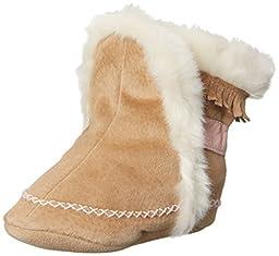 Robeez Fab Folk Crib Shoe (Infant/Toddler),Taupe,6-12 Months M US