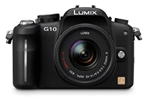 Panasonic Lumix DMC-G10 12.1 MP Live MOS Interchangeable Lens Camera with 14-42mm Lumix G Vario f/3.5-5.6 MEGA OIS Lens
