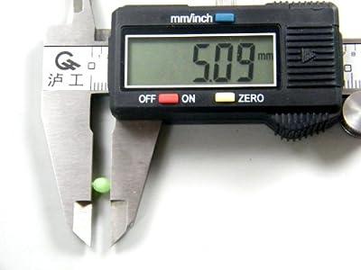 100pcs 5x4mm Soft Fishing Soft Glow Bead Green Fishing Tackle Tools Eggs