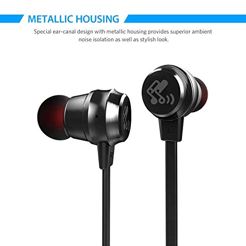 SoundPEATS M20 3.5mm Headphones In-Ear Wired Earphones Earbuds with Microphone - Black