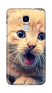 AMEZ designer printed 3d premium high quality back case cover for Huawei Honor 5C (cat)