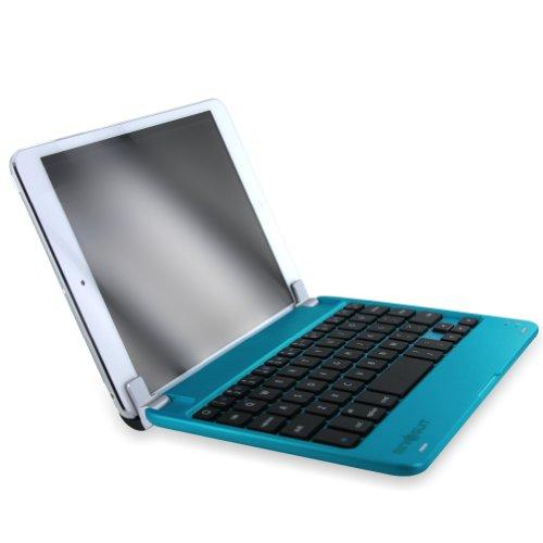 MiniSuit NewYorkApple iPad mini Bluetooth ワイヤレス キーボード スタンドカバー スリープ機能付き ハード素材 サテンフィニッシュ 全5色 水色
