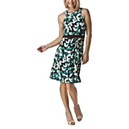 Product Image Merona® Women's Easy Care Easy Wear Ringneck Dress - Brown/Turquoise