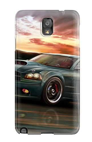 High-Quality Durable Protection Case For Galaxy Note 3(Tesla Roadster)