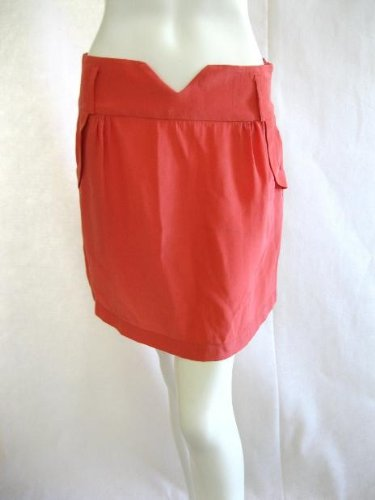 MYNE Kenny Watermelon Silk Short Mini Skirt 6