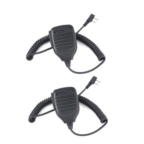 Retevis Super Quality 2 Pin Handheld Remote Speaker Microphone For Kenwood/Baofeng Uv-5R/Uv-5Ra/888S Walkie Talkie Two Way Radio 2 Pack