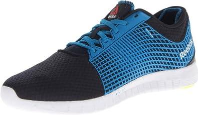 Reebok Men's ZQuick Running Shoe,Reebok Navy/Conrad Blue/White/Neon Yellow,8 M US