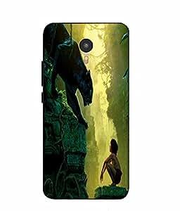 Snazzy Jungle Book Printed Green Hard Back Cover For Micromax Yu Yunicorn YU5530