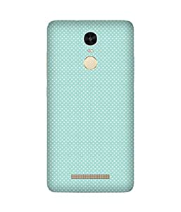 White Polka Dots Back Cover Case for Xiaomi Redmi Note 3