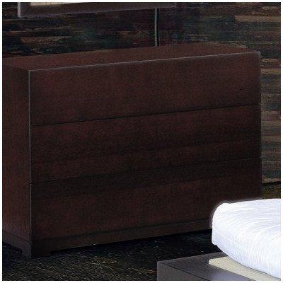 Bh Design Zen 3-Drawer Dresser, Espresso front-378156