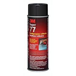 3M Super 77 Multi-Purpose Spray Adhesive,24 Fl.Oz  (Pack of 5 cans)
