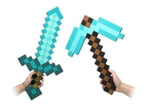 Minecraft Blue Diamond Sword & Pickaxe Set by Minecraft Ltd.
