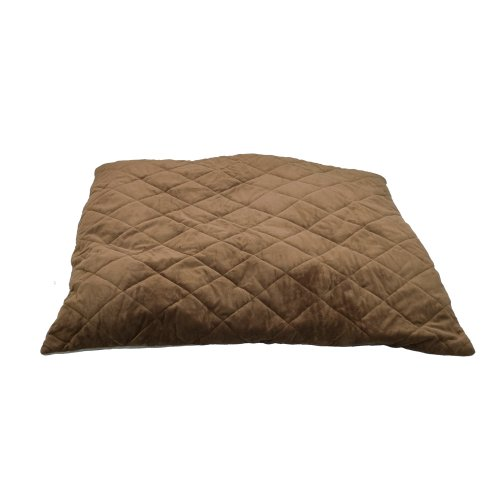 K&H Thermo-Bed, Quilted, Medium, Tan/Mocha, 26X29, 6 Watts front-915859