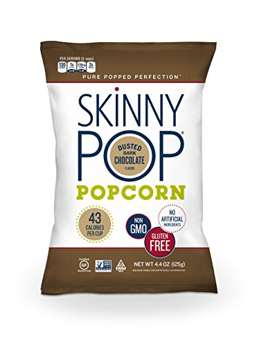 SkinnyPop Dusted Dark Chocolate Popcorn, 4.4 Ounce