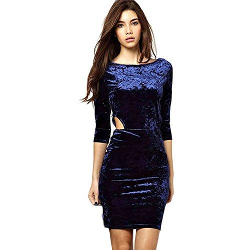 Lk Junior'S Vintage Sexy Velvet Sheath Bodycon Dress