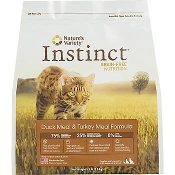 Detail image Instinct Grain-Free Duck Meal & Turkey Meal Dry Cat Food by Nature's Variety, 5.5-Pounds Package
