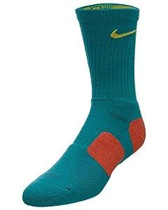 Nike Dri-Fit Elite Crew Basketball Socks-Teal-Medium