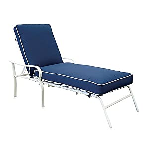 padded indoor outdoor oversized reclining chaise patio