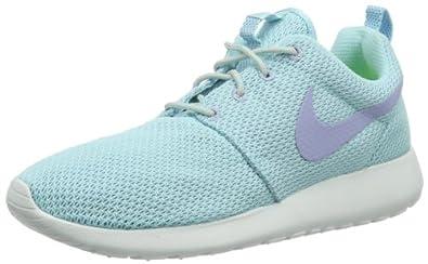 Nike Women's Rosherun Glcr Ic/Prpl Fd/Lt Bs Gry/Whit Running Shoe 9.5 Women US