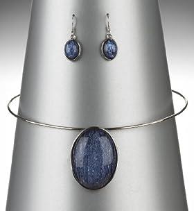 Crackle Bead Torque Necklace