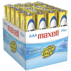 Maxell 723849 LR03 20MP AAA Cell 20 Pack Brick Battery