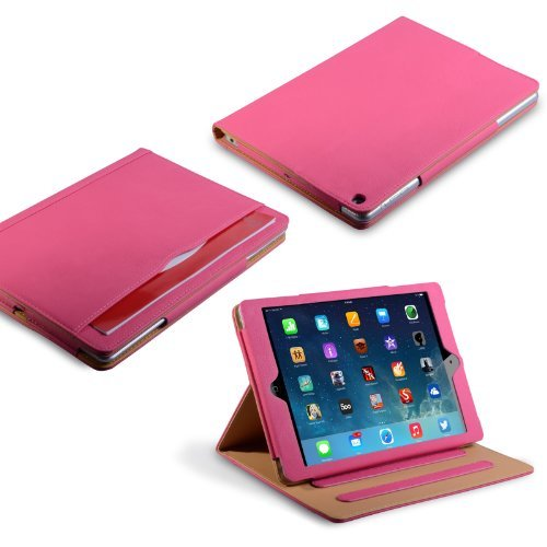Caseflex Ipad Air Case Hot Pink Pu Leather Stand Cover With Sleep / Wake Function