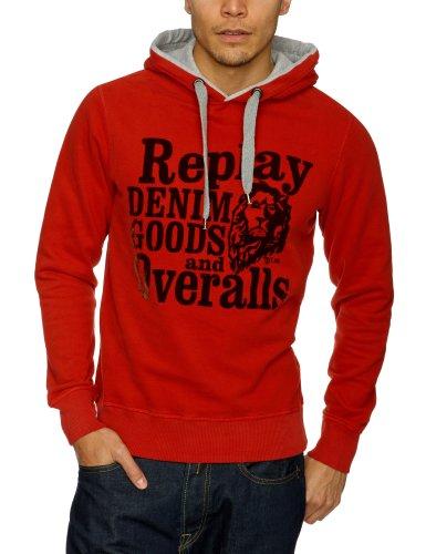 Replay M6042 Men's Sweatshirt Red Large
