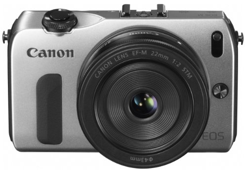 Canon ミラーレス一眼カメラ EOS M レンズキット EF-M22mm F2 STM付属 シルバー EOSMSL-22STMLK