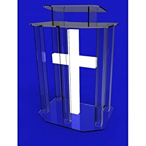 unassembled acrylic lectern pulpit lucite. Black Bedroom Furniture Sets. Home Design Ideas